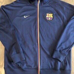 Nike FC Barcelona FCB Full Zip Soccer Track Jacket Navy Mens M